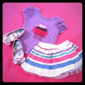 The children's place-Cupcake matching skirt set